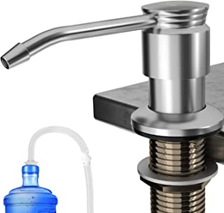 Diwenhouse Kitchen Soap Dispenser, Brass Sink Dish Soap Dispenser Countertop Pump Built in Large Liquid Soap Bottle with 47