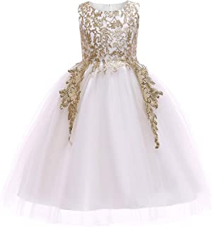 Surprise S Golden Thread Embroidery Elegant Party Dress for Girls Wedding Dress Kids Dresses for Christmas