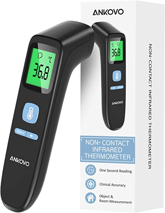 Termometro febbre infrarossi, termometro digitale aggiornato schermo lcd B08K8JNZLS