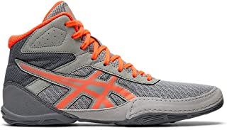Asics Kid's Matflex 6 GS Wrestling Shoes, 2.5M, Stone Grey/Flash Coral
