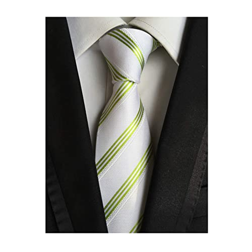 b6fcd5c98176 Secdtie Men's Large Striped Jacquard Woven Silk Tie Formal Business Necktie