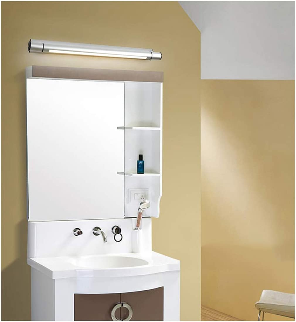 GYC Spiegel Front Ligh Einfache und moderne LED Badezimmer Licht Wandleuchte Badezimmer Beleuchtung Make-up Lampen Silber GYC (Size : 5W/50cm) 13w/80cm