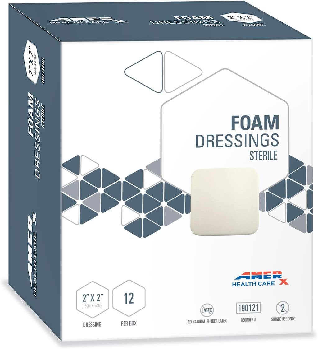 AMERX® Foam Wound Dressing Credence Pads - Count in. NEW before selling x pe 12 2