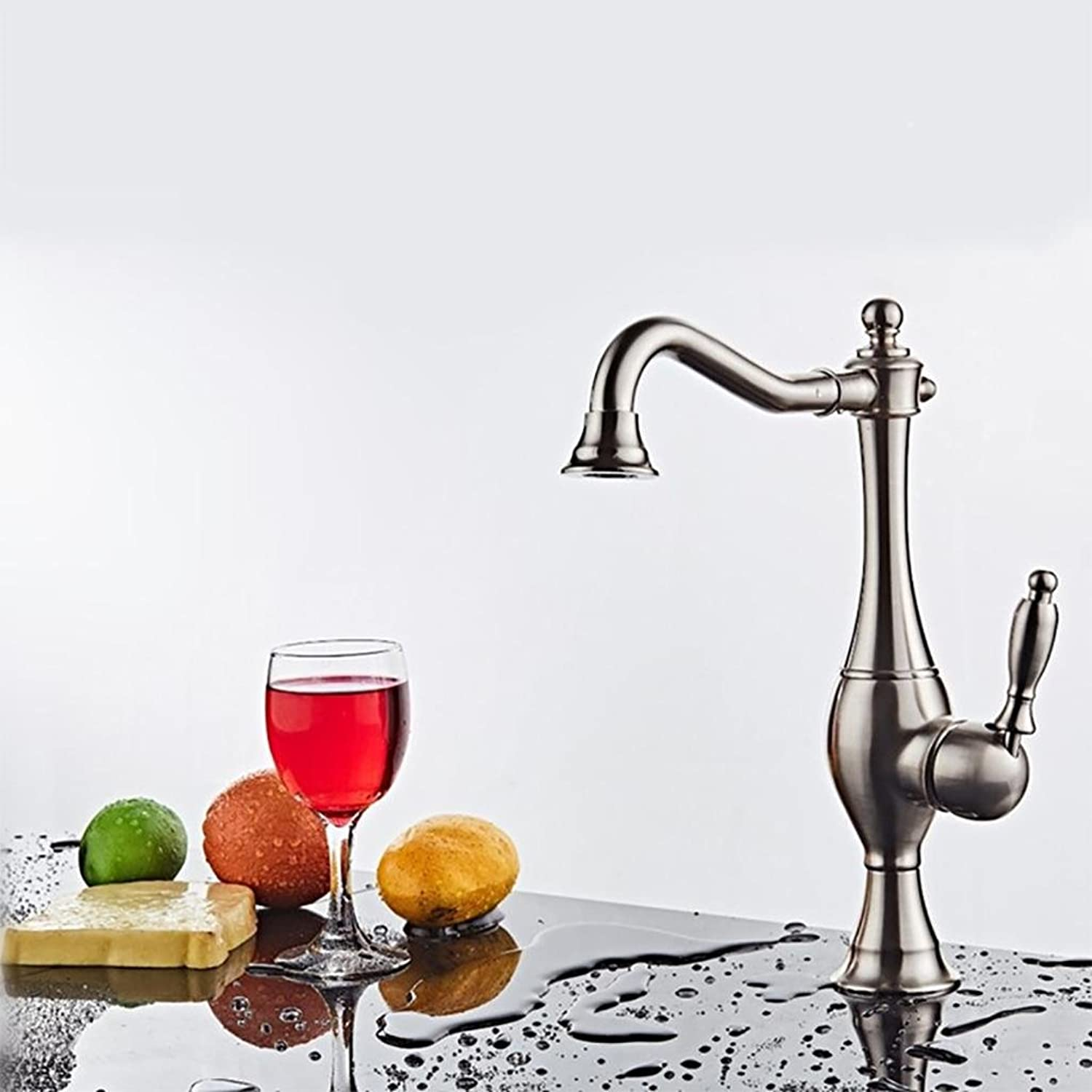 BKPH Hot and cold faucet European-style Single Handle Single Hole redating basin Kitchen Sink