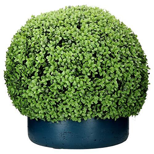 Pottery Pots buxusbol S, Ø 55 cm, hoogte ca. 45 cm, handgemaakt van kunststof, decoratie voor binnen en buiten, weerbestendig