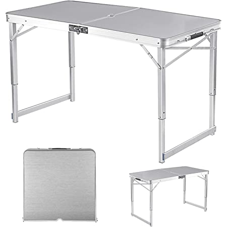 Details about  /Aluminum Lightweight Portable Folding Table Indoor Outdoor Picnic Camping w//Bag