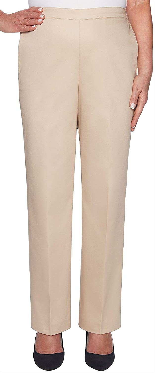Alfred Dunner Womens Society Page Sateen Proportioned Pants