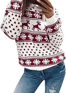 Ugly Christmas Sweater, ZYooh Women Xmas Snowflake Elk Floral Printed Sweatshirt Plus Size Blouse Tops