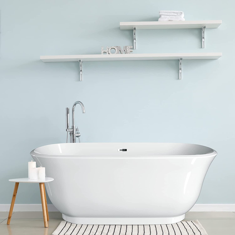Bargain sale GETPRO Louisville-Jefferson County Mall 59 Inch Freestanding Bathtub Modern Tub CUPC Cert Soaking