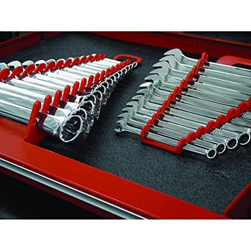 Ernst Manufacturing 5089 Gripper Wrench Organizer, 15 Tool, Black