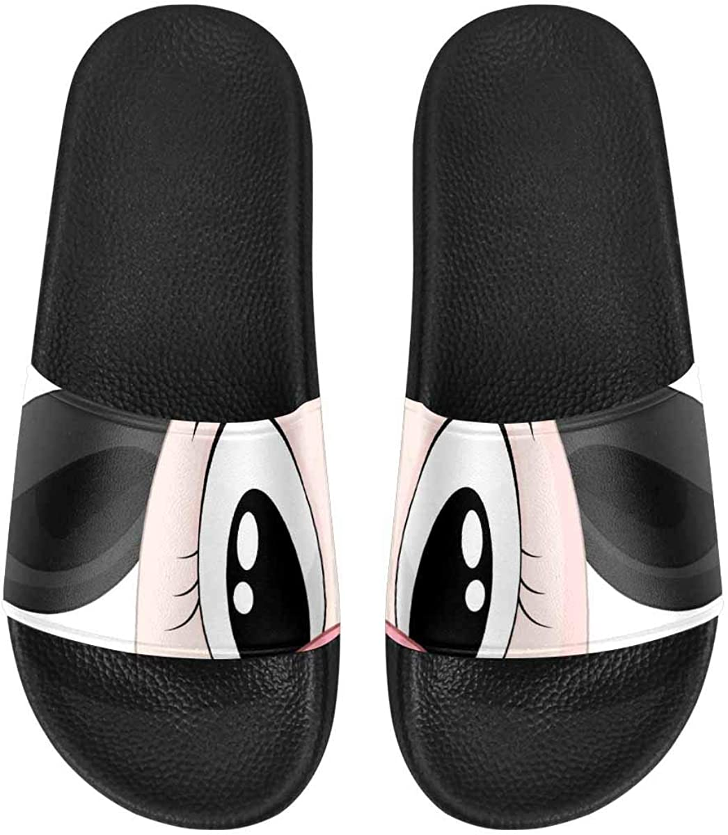 InterestPrint Women's Stylish Slipper Sandals for Summer Cats on The White Background