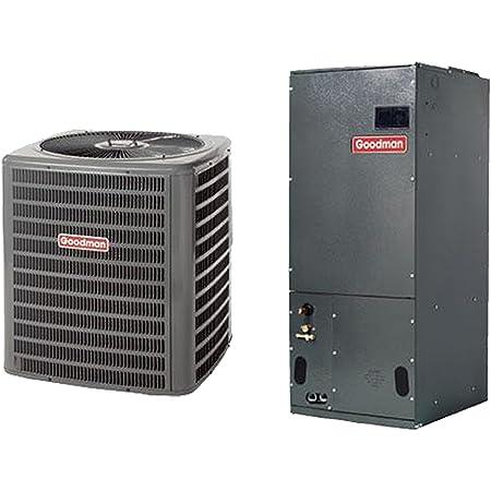 Goodman 2 Ton 14 SEER Air Conditioner GSX140251 60,000 BTU 92/% AFUE Horizontal Gas Furnace GMSS920603BN Coil CHPF3636B6