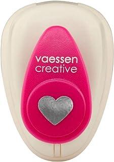 Vaessen Creative Perforatrice de Papier, Taille XS, Coeur, Pour Projets DIY, Scrapbooking, Création de Cartes et Plus