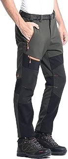 TREKEK Men's Soft Shell Outdoor Hiking Pants Winter Warm Waterproof Fleece Hunting Snow Ski Pants