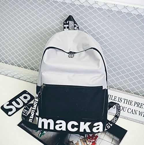 Sac à dos sac à dos mode couple campus pour les hommes de couleur gris noir