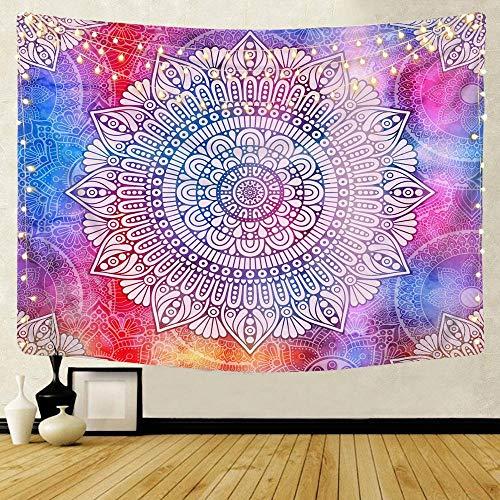 KHKJ Mandala patrón Tapiz Indio decoración para Colgar en la Pared Toalla de Playa Bohemia Manta Fina Yoga Shaw A6 150x130cm