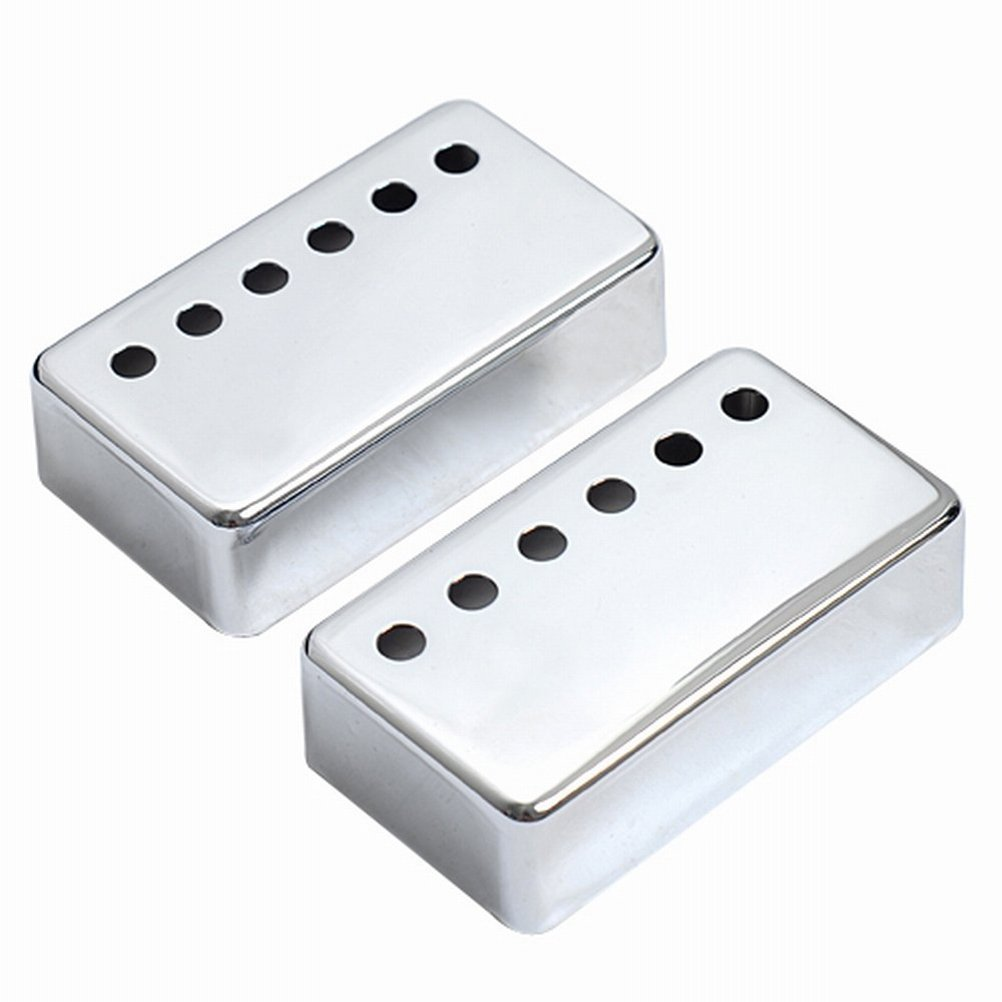 Cheap Guitar Pickup Covers Chrome for Gibson Electric Guitar 2pcs Black Friday & Cyber Monday 2019