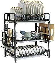 Dish | Black 304 Stainless Steel Kitchen Rack | Tableware Drying Rack for Kitchen, Storage
