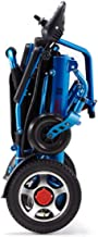 zdw Lightweight Lntelligent Folding Carry Electric Wheelchairs, Durable Wheelchair,Safe and Easy to Drive for Extra Comfort,Blue