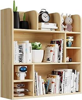 رف الكتب - صندوق للكتب مكون من 3 طبقات خشبية خشبية لمكتب، رف للمكتب، حامل تخزين منزلي، غرفة المعيشة، مجموعة أثاث للمكتب وا...