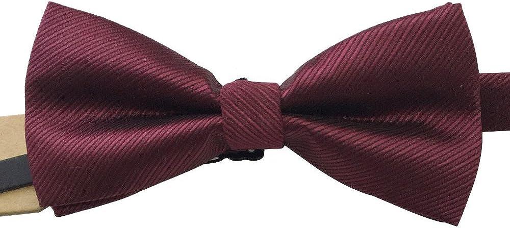 AINOW Mens Fashion Classic striped Pre-tied Bowties Formal Tuxedo Bow Ties