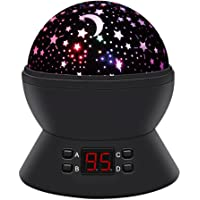 Anteqi 360 Degree Rotating Star Sky Night Lamp with LED Timer Auto-Shut Off