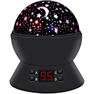 Star Sky Night Lamp,ANTEQI Baby Lights360 Degree Romantic Room Rotating Cosmos Star Projector...