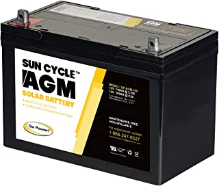 Carmanah CMH-AGM-100 100 Amp AGM Deep Cycle Rechargeable Replacement Battery for PV Solar and Inverters (No Maintenance)
