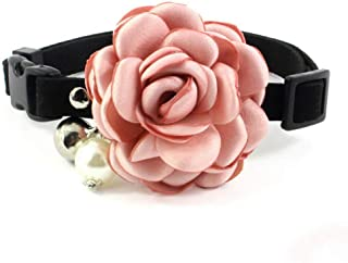 Exquisite Dog and Cat Collar, Soft and Comfortable Faux Leather, Pet Collar with Bell and Adjustable Bow for Party Holiday Decoration Beauty Accessories