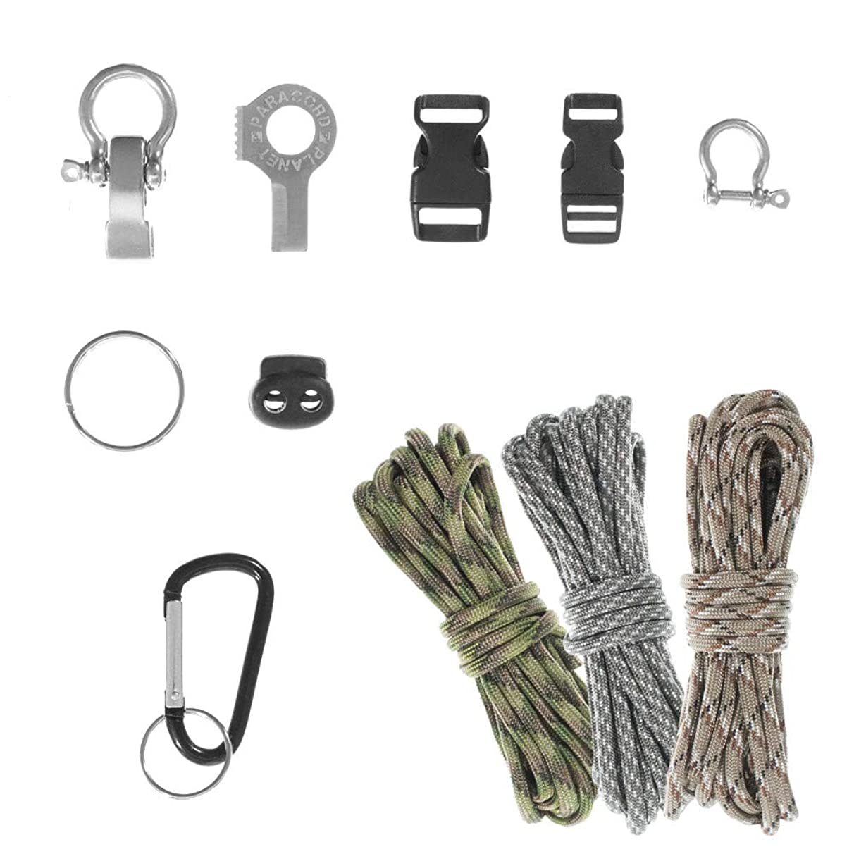 PARACORD PLANET DIY Ultimate Paracord Kit – 30 Feet of 550 Paracord & 10 Essential Necessities to Make Your Own Survival Paracord Bracelets, Lanyards, Tools