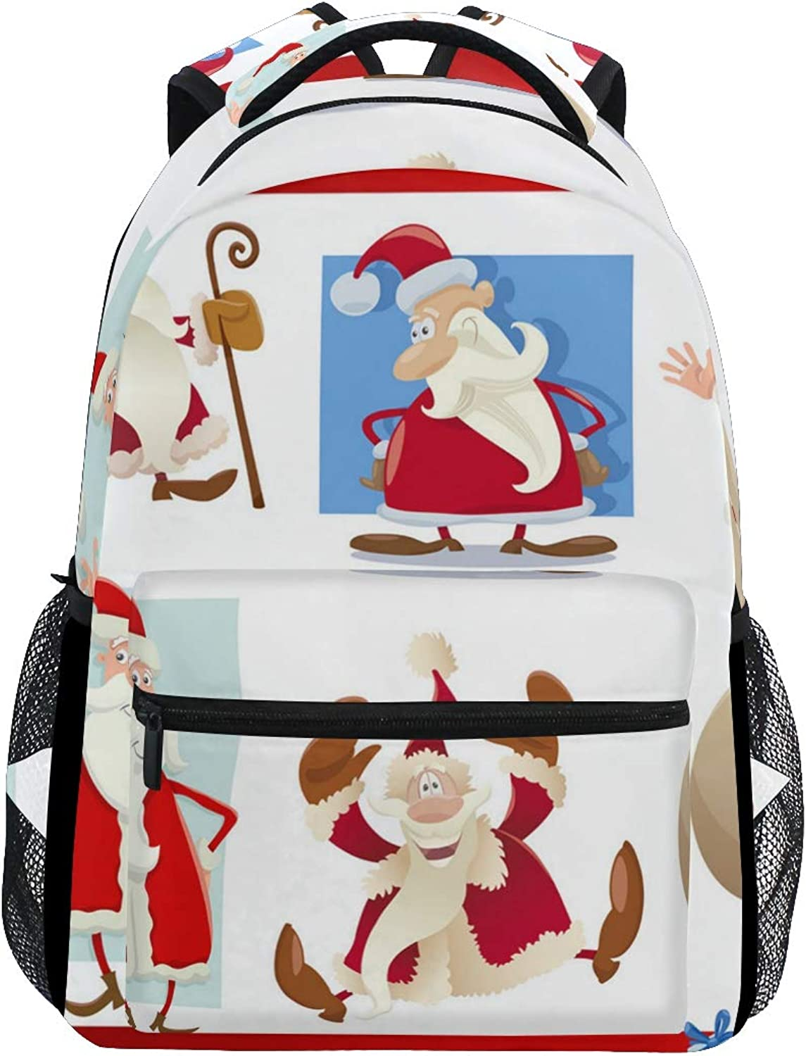 Bearded Naughty Santa Claus Trekking Backpack Fashion Backpack Oversized Backpack Men and Women Durable Travel Computer Backpack 17 Inch Notebook Waterproof Large Business Bag