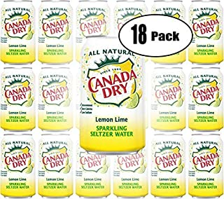 Canada Dry Lemon Lime, Sparkling Seltzer Water, 12oz Can (Pack of 18, Total of 216 Oz)