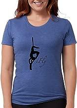 CafePress Ifly Silk Silohouette T-Shirt Tri-Blend Tee