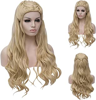 Long Blonde Braid Cosplay Wigs for Game of Thrones Daenerys Targaryen Costumes Khaleesi Hair Wigs for Halloween Party