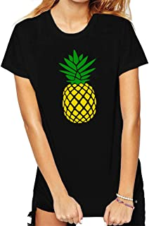 BLACKMYTH Women Cute Graphic T Shirts Funny Tops Pineapple Tees