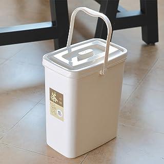 Poubelle à la maison Thé moderne Théières de scories Thé en plastique Poubelles Bureau Chambre à déchets Cuisine Boîte de ...