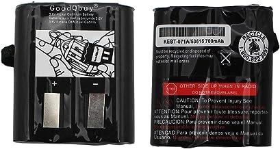 GoodQbuy 2Pcs 700mAh 3.6V Replacement NI-CD Two-Way Radio Battery Packs for Motorola Talkabout Radios MS350R MT350R EM1000 MC220R MR355 FV800 T4800