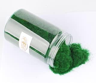 NWFashion 90G Dress Tree Flower Static Grass Dressing Scatter Flock for Miniatures Model (01 Deep Green)