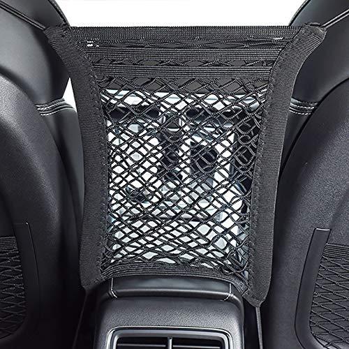 Bestdoggo Car Dog Barrier for Dogs Net Barrier 3 Layers Car Mesh Organizer, Car Divider, Dog Car Accessories, Pet Barrier, Design for Safety of Driving with Children & Pets Dog Barrier SUV(Black)