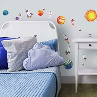 RoomMates RMK1316SCS Outer Space Peel and Stick Wall Decals ,Multicolor