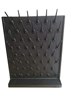 YTFLOT Lab Supply Drying Rack Pegboard Bench-top Wall-Mount Laboratory Glassware 52 Detachable Pegs Lab Drying Draining Rack Cleaning Equipment (Black)
