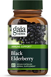 Gaia Herbs, Black Elderberry, Organic Sambucus Elderberry Extract for Daily Immune and Antioxidant Support, Vegan Powder C...