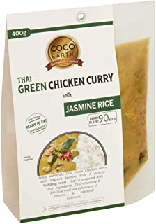 COCO EARTH Coco Earth Thai Green Chicken Curry & Rice 400g, 400 g