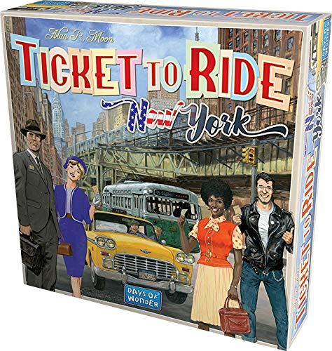 Asmodee 720560 Ticket To Ride New York bord spel, lichtblauw