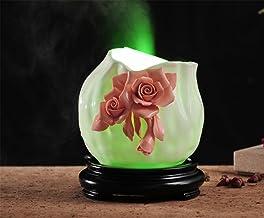 HL Ceramiczna maszyna do aromaterapii ultradźwiękowej mini nawilżacz oczyszczający powietrza, czerwony, 13,5 * 13 * 12 cm,...