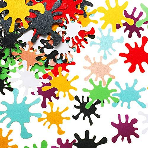 400 Stück Farbspritzer Konfetti Kunst Farbe Spritzen Tisch Konfetti Buntes Konfetti Papier Zubehör für Kunst Farbe Theme Party Geburtstag Hochzeit Dekoration, 8 Farben