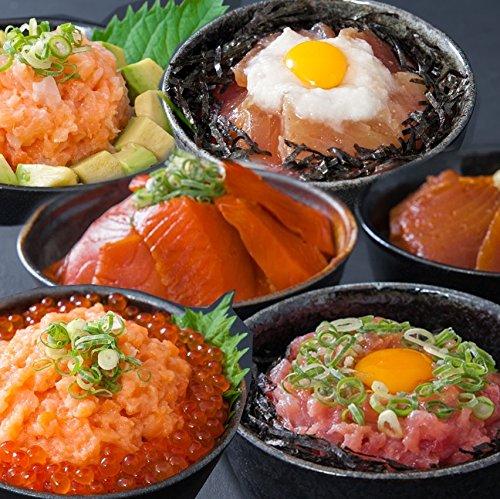 海鮮丼12食セット(マグロ漬け2p・ネギトロ2P+サーモンネギトロ2p+トロサーモン2p+びんちょうマグロ2P+イ