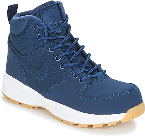 Nike Manoa (GS) Chaussures de Randonnée Hautes Homme, MultiCouleure Midnight Navy blanc 400, 38.5 EU