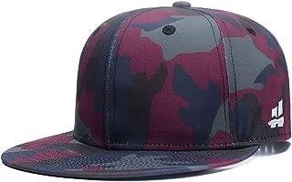 Quanhaigou Unisex Camouflage Baseball Cap,Classic Army Camo Adjustable Snapback Flat Bill Brim Trucker Hat