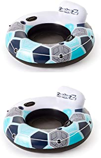 Bestway CoolerZ Rapid Rider Inflatable Blow Up Pool Chair Tube (2 Pack)